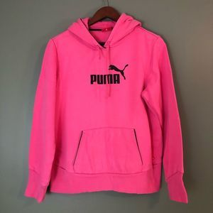 Puma Youth XL Pink Pullover Hooded Sweatshirt